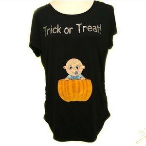 Halloween Maternity Top Pumpkin baby boy Large